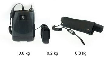 AirSep Focus ir priedų svoris