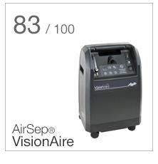 AirSep Visionaire vertinimo rezultatai