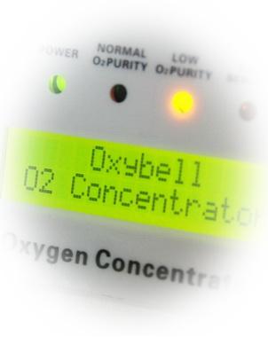 K55 deguonies įrenginio LCD ekranas