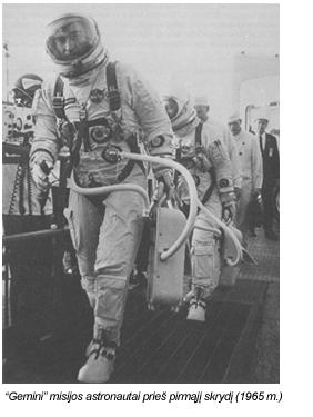 Gemini misijos astronautai prieš pirmąjį skrydį į kosmosą